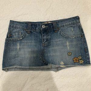 Foxy Mini Denim Skirt